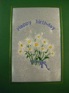 HAPPY BIRTHDAY - Bunch of Daisies - Flowers - Cards